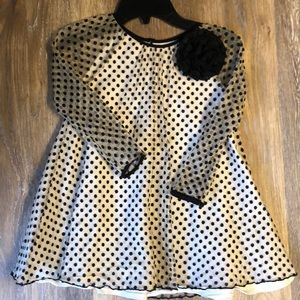 Stunning Black Polkadot Pippa & Julie Dress